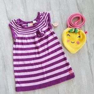 ❗SALE 3for10❗ROXY purple stripe knit dress. 18mos